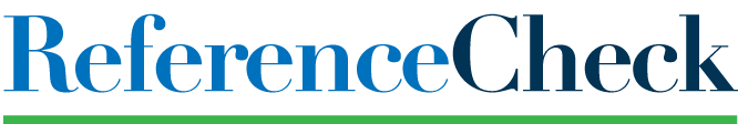 Reference check logo