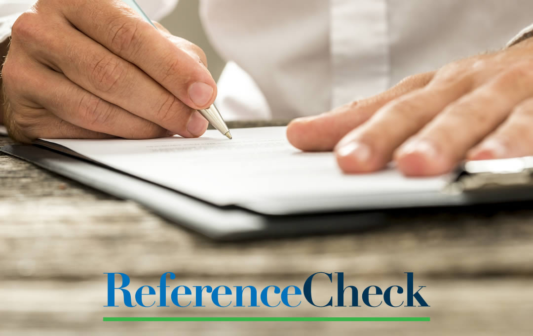 reference checks you can rely on